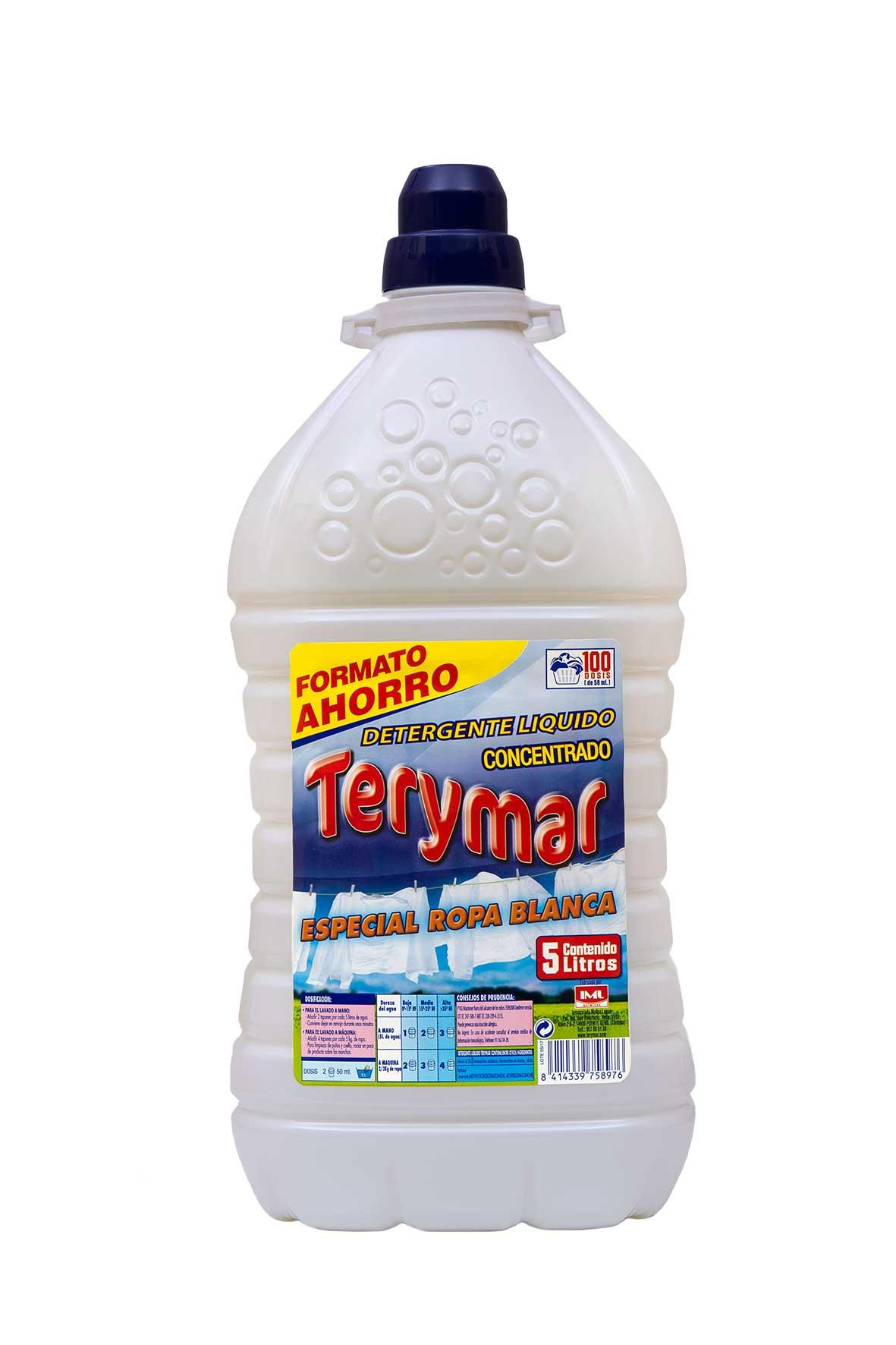 Detergente Liquido Concentrado Especial Ropa Blanca 5L