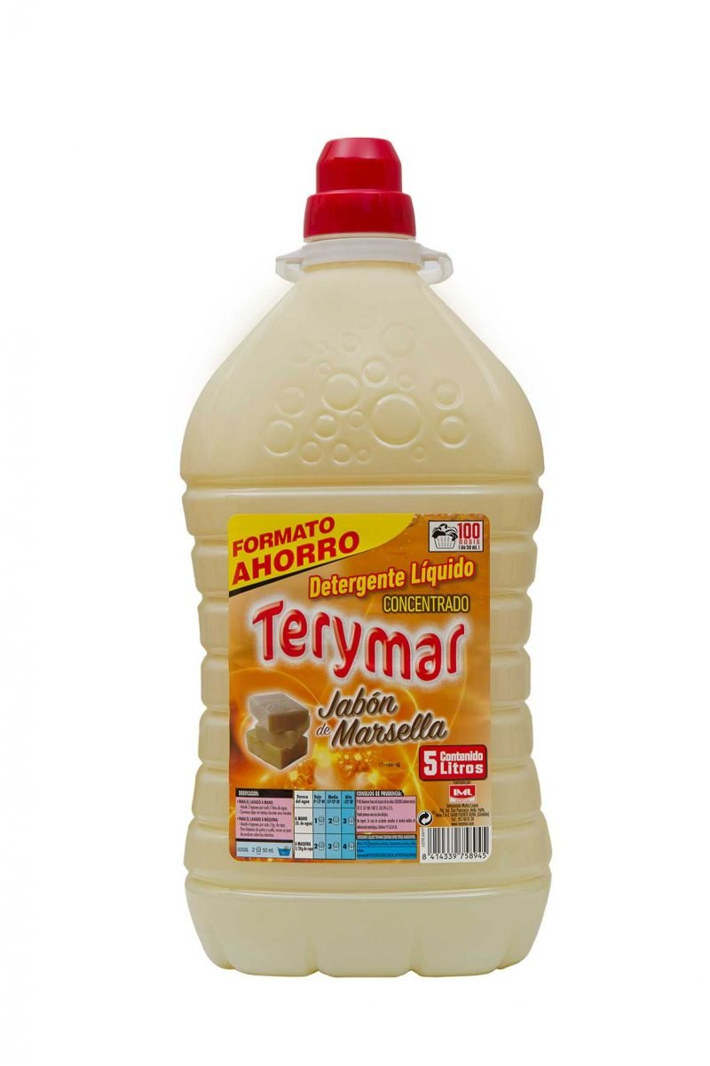 Detergente Liquido Concentrado Jabón Marsella 5L